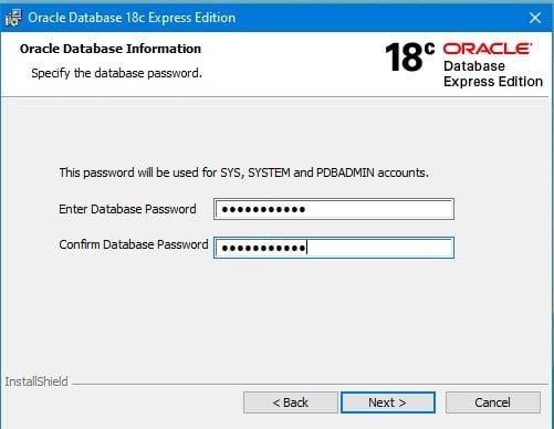 OracleXE18c-Setup-pwd