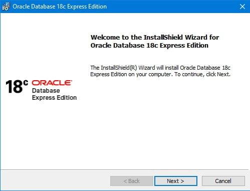 OracleXE18c-Setup