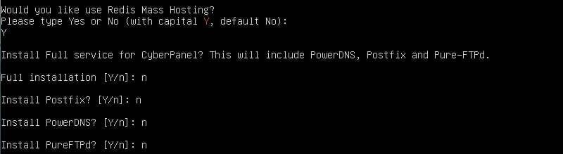 cyberpanel options